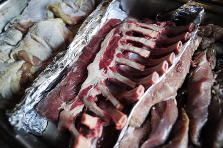 raw ribs for a grill