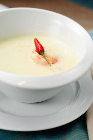 soup with coconut milk Stock Photo