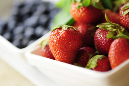 strawberryes in the plate Stock Photo
