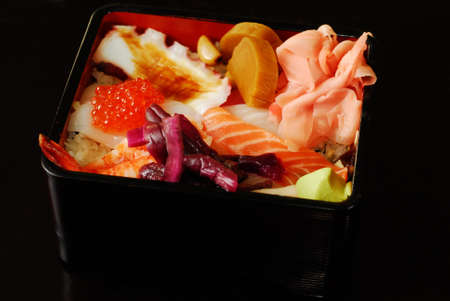 Box of japanese traditional food