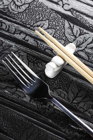 fork and sticks