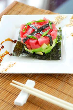 tartar with avocado