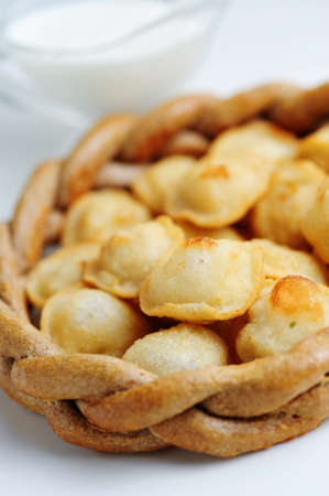 fried dumplings Stock Photo