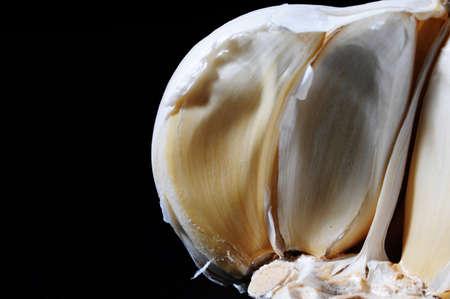halved garlic