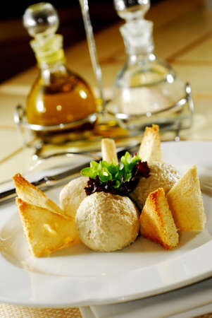chicken pate with toast