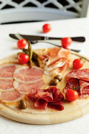 assorted italian meat Stock Photo