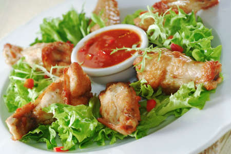 chicken wings with spicy sauce