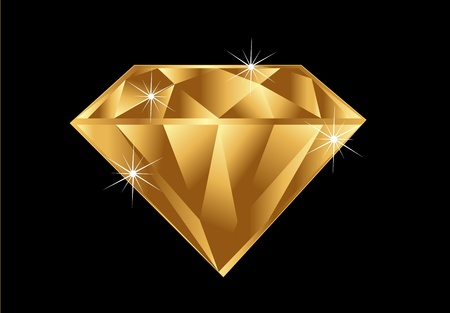Gold diamond Stock Vector - 10346161