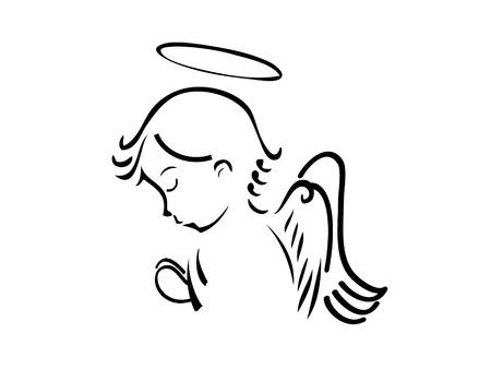Angel Praying Vector