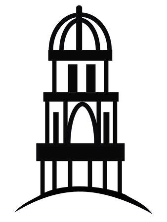 Temple or cupola silhouette logo