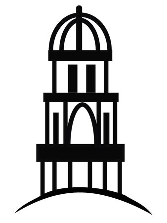 Temple or cupola silhouette logo Vector