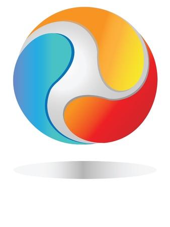 loghi aziendali: Mondo logo di collegamento con le imprese