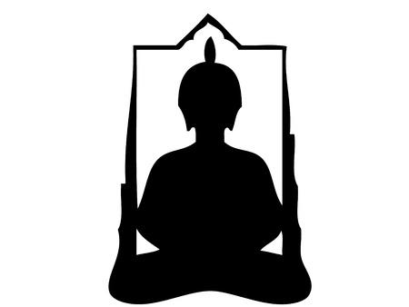 budha: Buddha silhouette