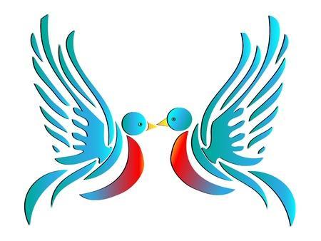 Bird of Love Vector