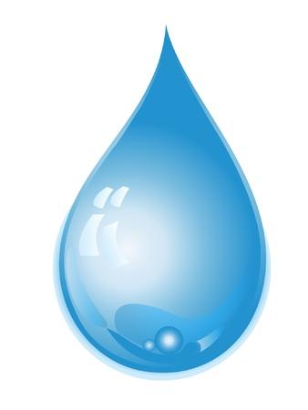 reflectie water: Waterdruppel