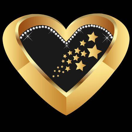 Golden Heart Standard-Bild - 10599196