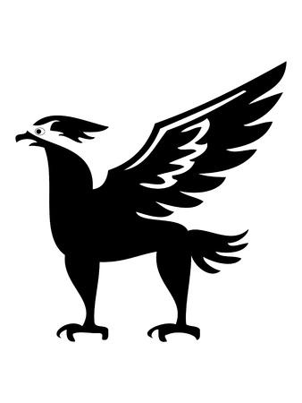 Phoenix bird silhouette Stock Vector - 10599225