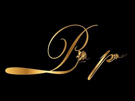 Gold letter P Stock Vector - 10599265