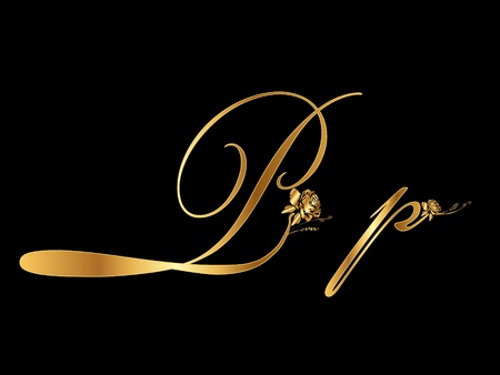 shiny gold: Gold letter P