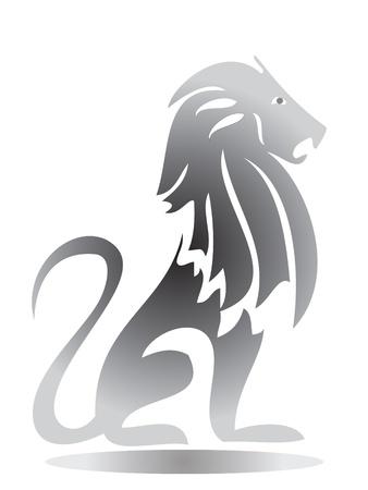 용감: 사자 실루엣