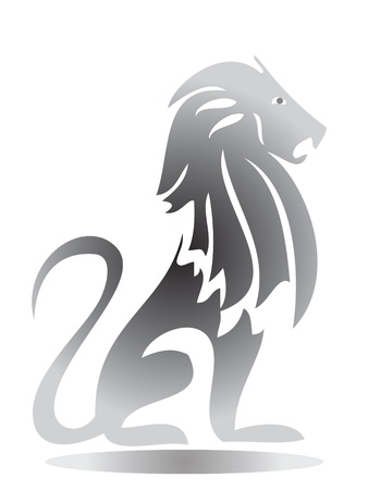 courage: Lion Silhouette
