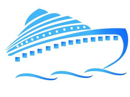 barco caricatura: Barco o crucero Vectores