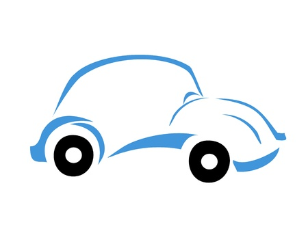 logo voyage: Logo Blue Car Illustration