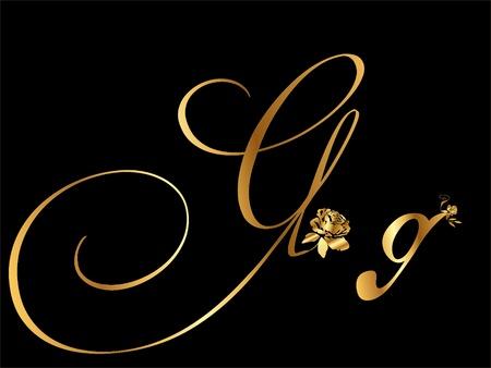 shiny gold: Gold letter G