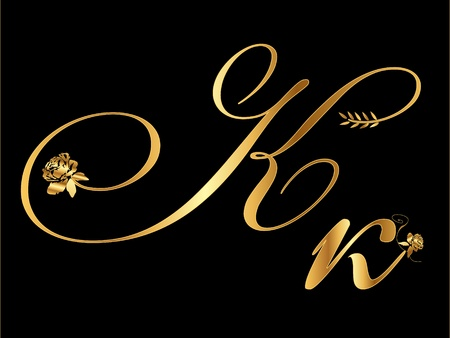 Gold letter K Vector