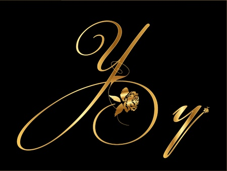 Gold letter Y Vector