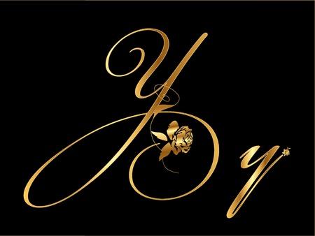 shiny gold: Gold letter Y Illustration
