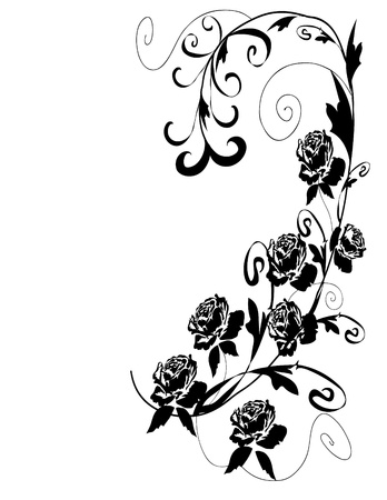 иллюстрировать: Черные розы дизайн Иллюстрация