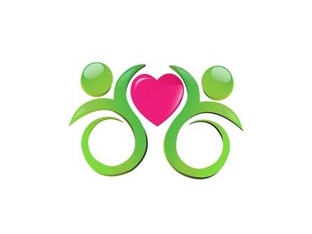 freedom logo: Equipo con un coraz�n Vectores
