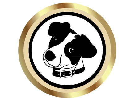 labrador retriever: Dog Icon Illustration