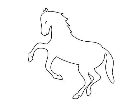 Paard silhouet logo Stock Illustratie