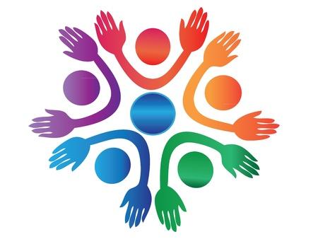 Mensen handen omhoog over de hele wereld