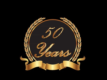 50 Years in gold  Vector