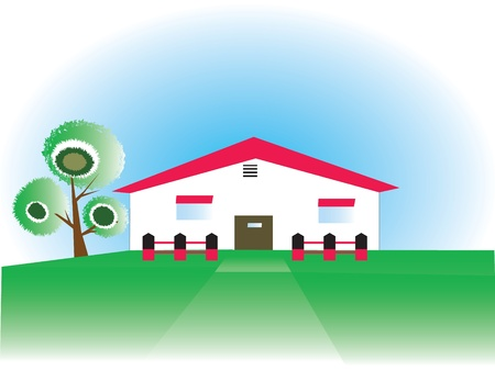 Farm House or stable 일러스트