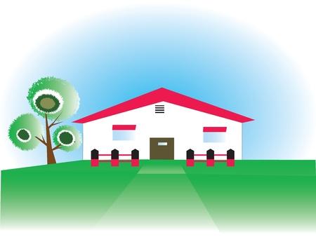 Farm House or stable Vector