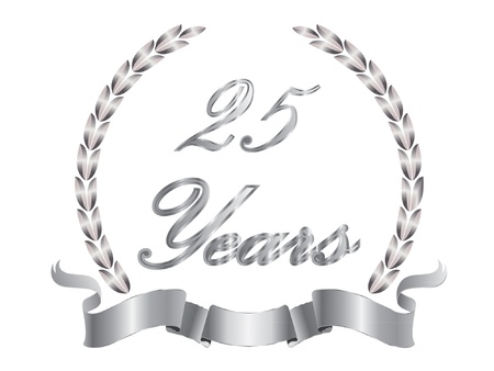 25 Years Stock Vector - 10599296