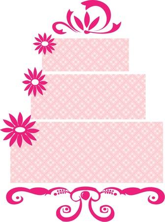 pastel de bodas: Deshierbe pastel  Vectores
