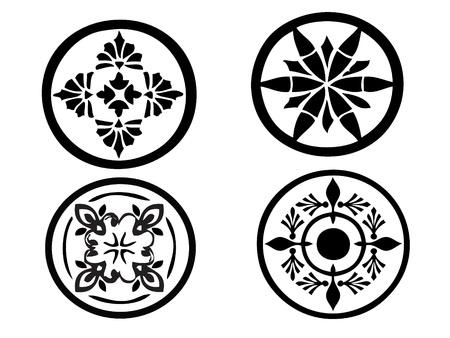 꽃 무늬의 일러스트