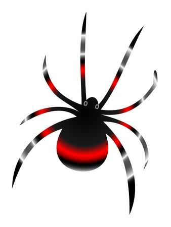 Negro araña viuda Ilustración de vector