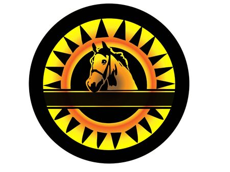 Horse Logo Stock Vector - 10676676