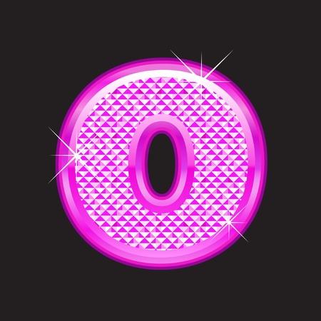 rich girl: O letter pink bling girly