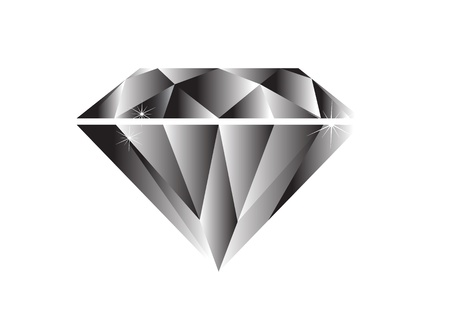 Diamond black and white