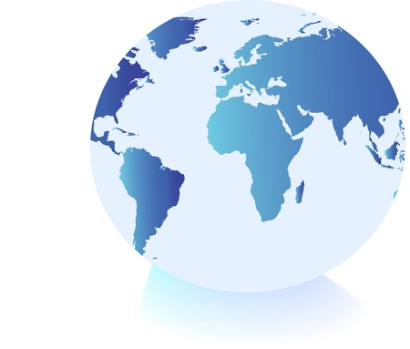 blue earth: World globe Illustration