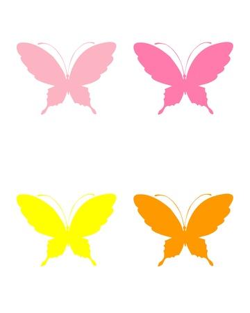 Conjunto de las mariposas Ilustración de vector