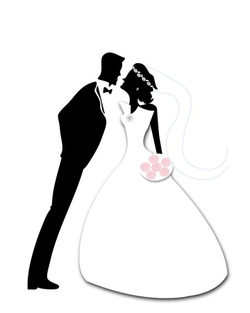 Bride and Groom Stock Vector - 10703885