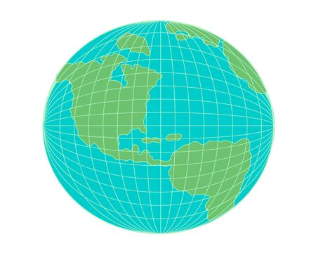 Earth globe green and blue Stock Vector - 10731812